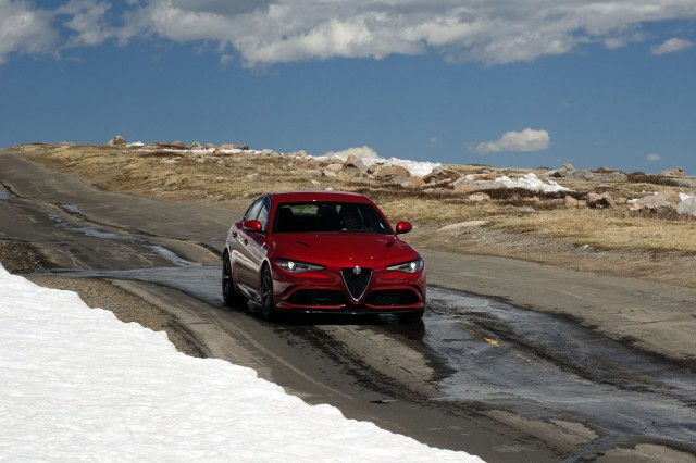 2017 Alfa Romeo Giulia Quadrifoglio on the Mt. Evans Scenic Byway