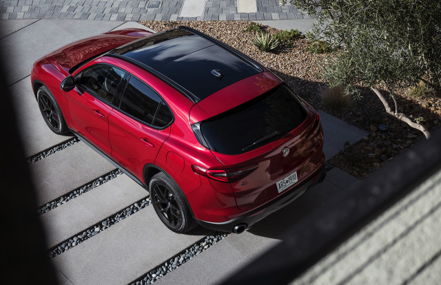 2019 Alfa Romeo Stelvio equipped with Nero Edizione package