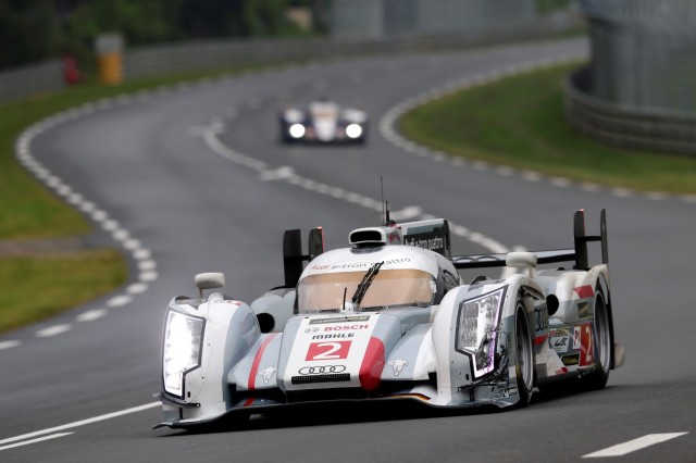 Allan McNish and the Audi team prepare for the 2013 24 Hours of Le Mans