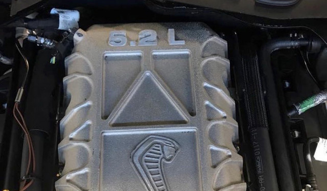 Alleged photo of 2020 Ford Mustang Shelby GT500's supercharged engine - Image via Mustang6G forum