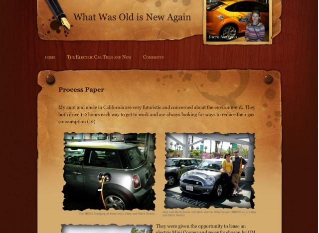 Allison Ringold's Electric Car Website
