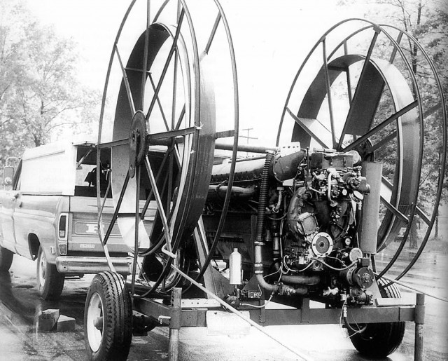 Allison V-12 powered electric generator and cable spools for Super Slot Car [photo: E.J. Potter]