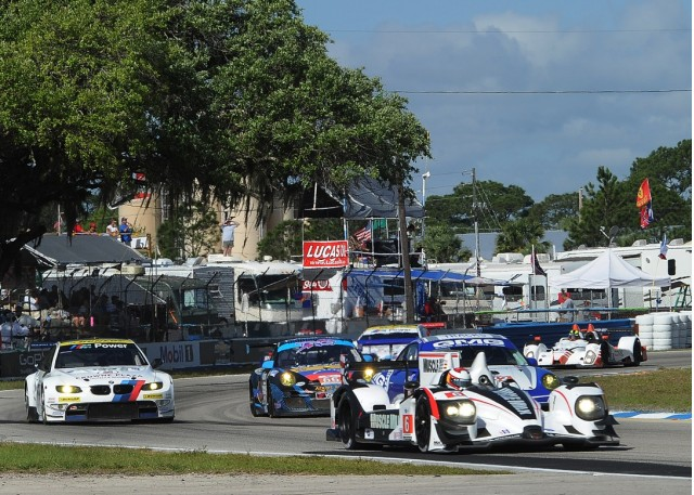 ALMS cars test at Sebring
