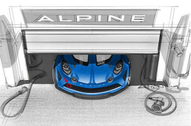 Alpine A110 track car sketch teaser