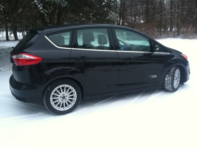 2017 Ford C Max Energi Plug In Hybrid Machusetts Winter Photo