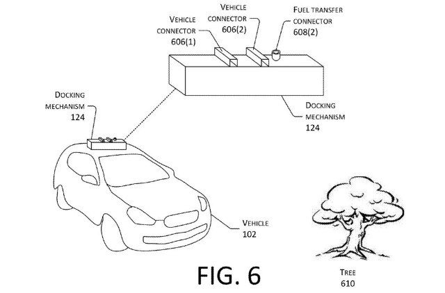 Amazon patent for mobile drone electric car charging
