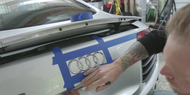 AMMO NYC wraps his Audi R8 with help from CKWrapsToronto