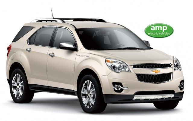 Amp'd Equinox electric crossover, converted by AMP Electric Vehicles