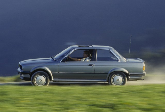 An E30 BMW coupe stretches its legs