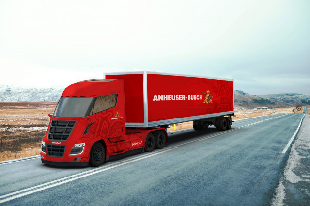 Anheuser-Busch Nikola Two fuel cell semi