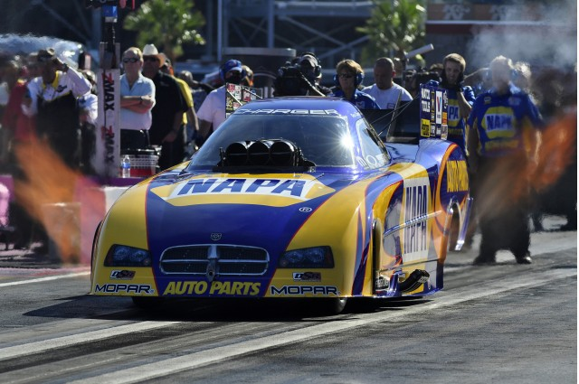 Ron Capps overcame a DNQ at Phoenix to win on Sunday in Las Vegas