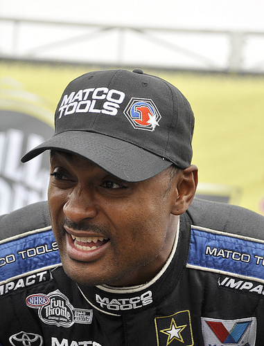 Antron Brown is ready to race. Photo: Anne Proffit