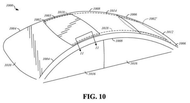 Apple patent for non-linear sunroof