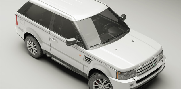 ARK ReDesign's new two door Range Rover Sport can be optioned with diamond encrusted leatherwork