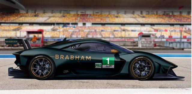 Artist's impression of a Brabham BT62 GTE race car
