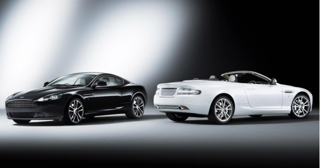Aston Martin DB9 Carbon Black and Morning Frost