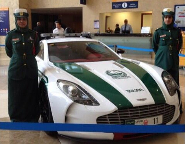 Aston Martin One-77 police car - Image: Dubai Police