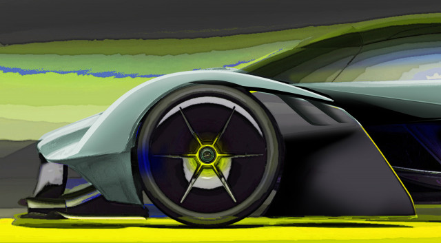 Aston Martin Valkyrie AMR Pro track auto  revealed