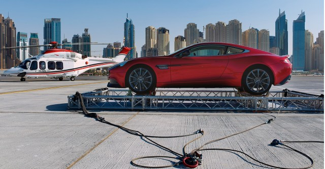 Aston Martin's centenary celebration in Dubai
