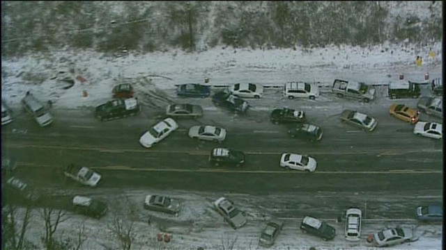 Atlanta snow brings traffic to Walking Dead-like halt. Image via @WCL_Shawn on Twitter