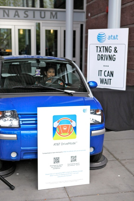 AT&T texting-while-driving simulator, offered by The Peers Foundation