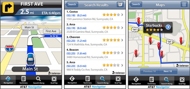 AT&T's Navigator app for iPhone