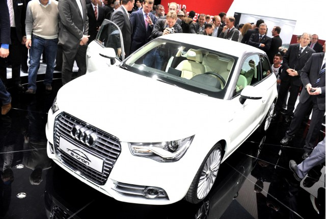 Audi A1 e-tron design study live in Geneva. Photos © United Pictures, Int'l.