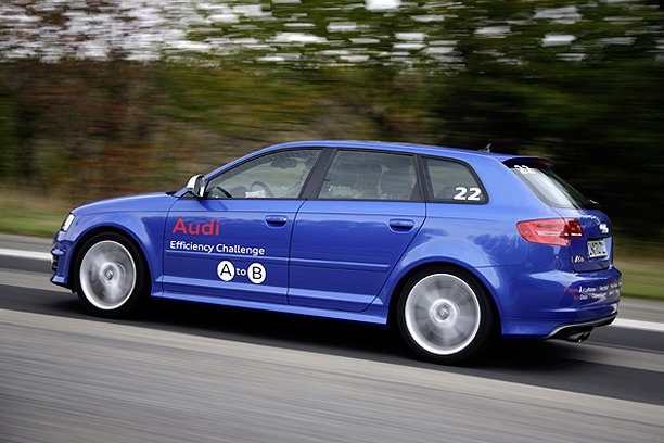 Audi A3 TDI competing in the Efficiency Challenge A to B [via AutocarUK]