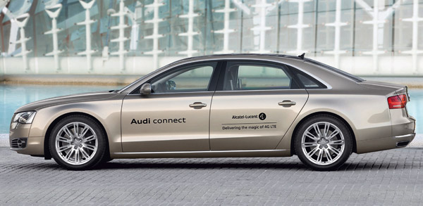 Audi A8 with broadband Internet connection
