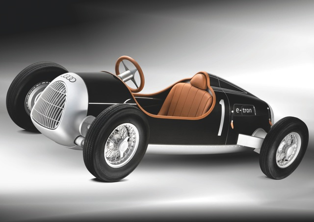 Replica electric car of 1930s Auto Union Type C, electrified by Audi