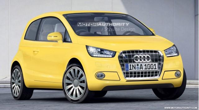 Audi-badged Volkswagen Up rendering