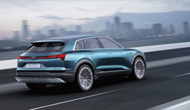 2018 audi electric car. simple electric audi etron quattro concept 2015 frankfurt auto show to 2018 audi electric car