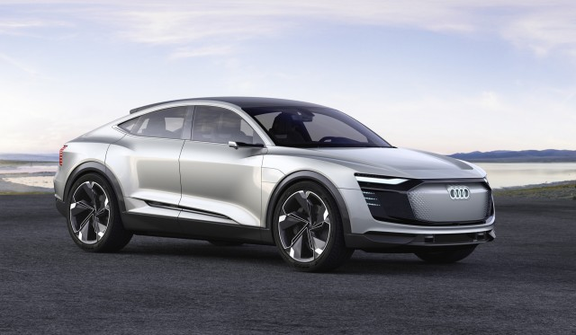 audi e tron sportback second electric car from automaker to enter production in 2019. Black Bedroom Furniture Sets. Home Design Ideas