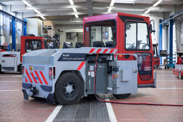 Audi plans to put old EV batteries to work in factory tugs