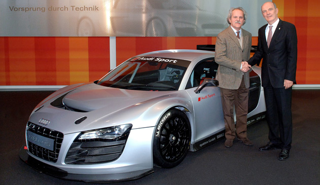 The R8 GT3 race car will make its debut at the Easter weekend leg of the 2009 GT3 series