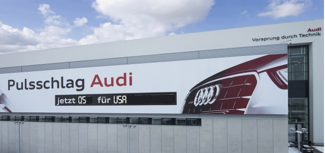 Audi production pulse-rate monitor in Ingolstadt, Germany
