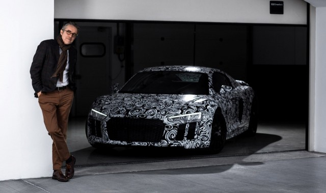 Audi quattro boss Heinz Hollerweger and the new R8