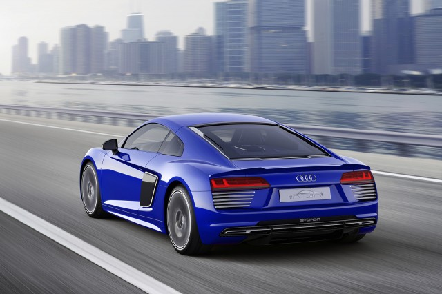 Audi R8 e-tron Piloted Driving concept, 2015 Consumer Electronics Show Asia