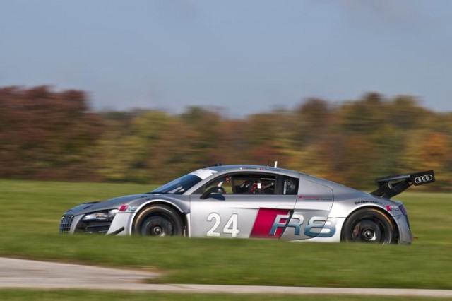 Audi R8 LMS testing for United SportsCar series.