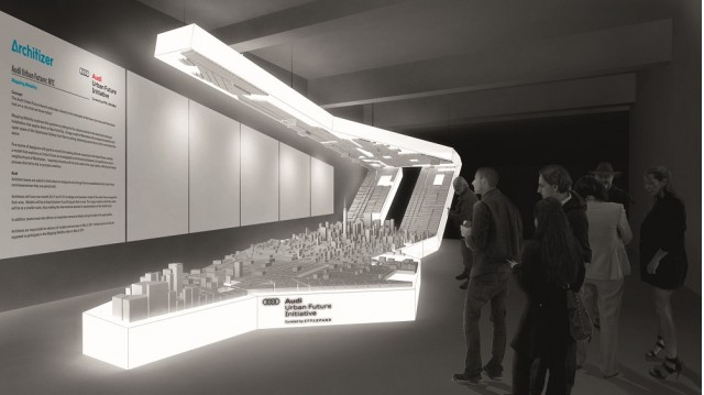 Audi Urban Future: Project New York, rendering of the exhibit at the Openhouse Gallery, New York