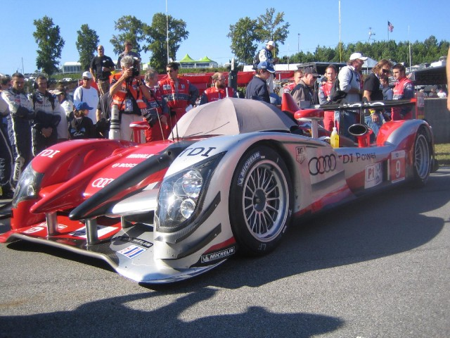 Audi R15 TDI diesel race car at Petit Le Mans, Road Atlanta, October 2010