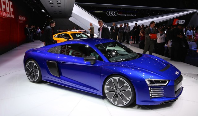 2017 Audi R8 E Tron All Electric Sports Car Live Photos From Geneva