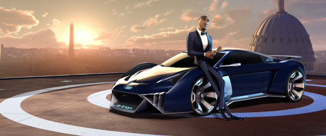 "Audi RSQ e-tron concept in ""Spies In Disguise"""