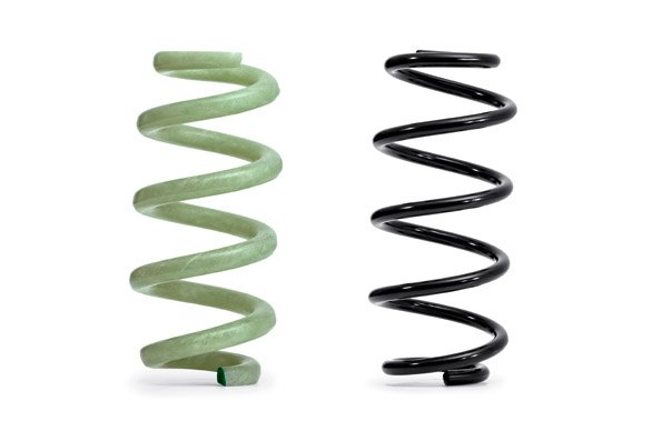 Audi's glass fiber-reinforced polymer (GFRP) springs will save weight compared to steel springs