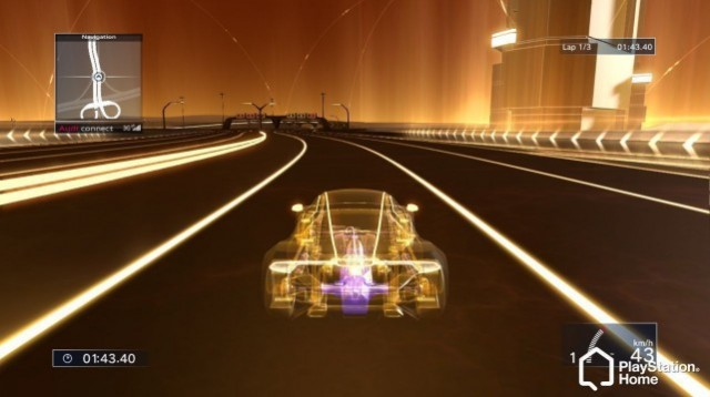 Audi's latest driving simulation game on the PlayStation Home site