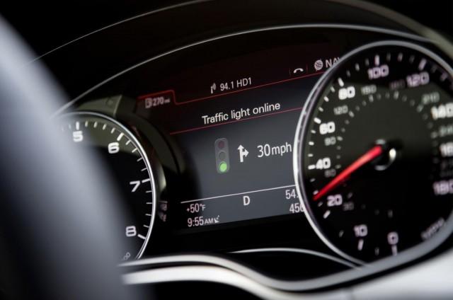 Audi's online traffic light information system