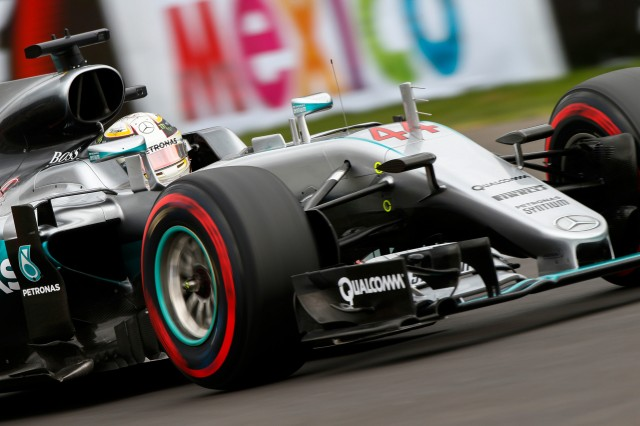 Mercedes AMG's Lewis Hamilton at the 2016 Formula One Mexican Grand Prix