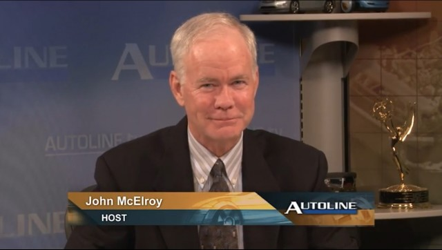 Autoline electric-car battery panel: host John McElroy