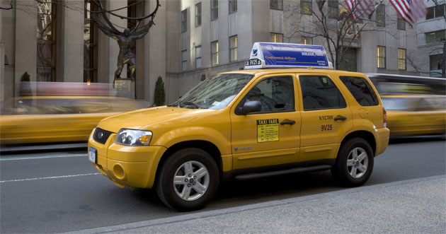New York City's hybrid taxis, such as this Ford Escape hybrid, could be sabotaged by safety concerns