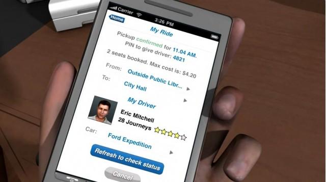 Avego ride-sharing app